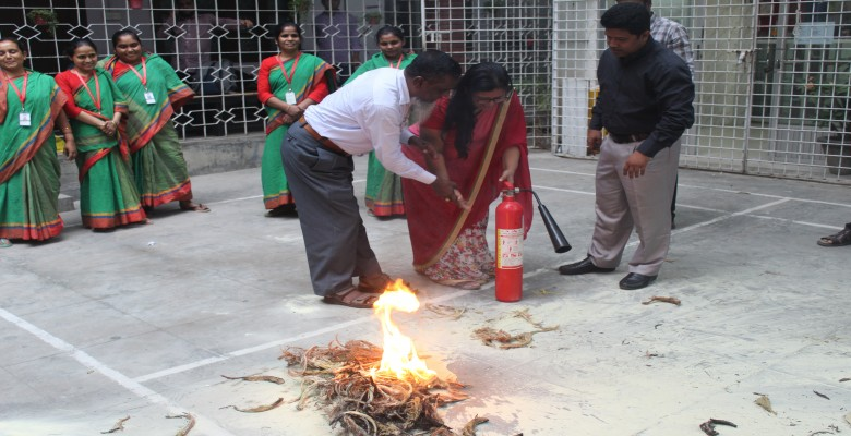 Demonstration on how to use Fire Extinguishers