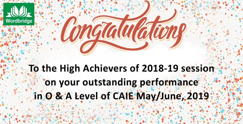 High Achievers of CAIE May-June, 2019 Session