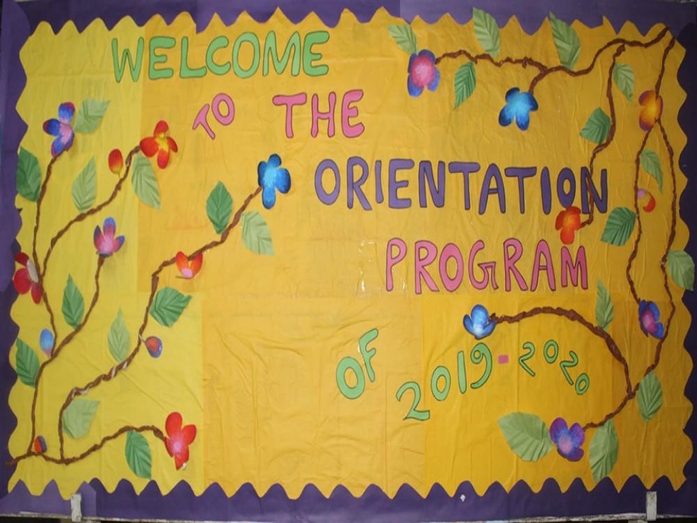Orientation Program, 2019-2020