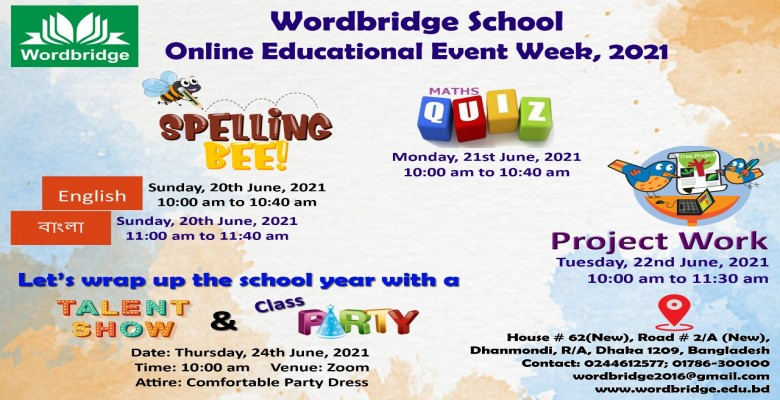 Wordbridge School Online Educational Event Week, 2021